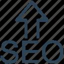 arrow, optimization, search engine, seo, upload, web