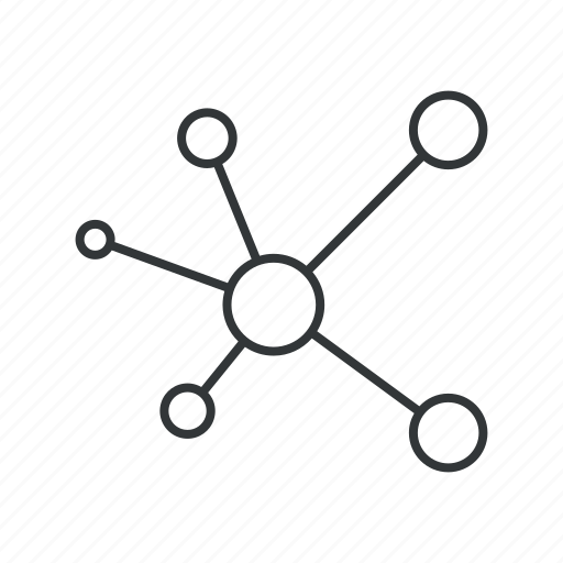 atoms, communication, connection, molecule, network, social, source icon