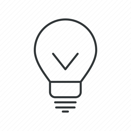 bulb, check, electric, good, idea, light bulb, new idea icon