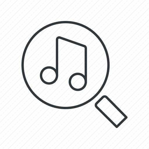 audio, find, media, music, note, search, sound icon