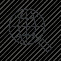 earth, geo, global, globe, grid, search, web icon
