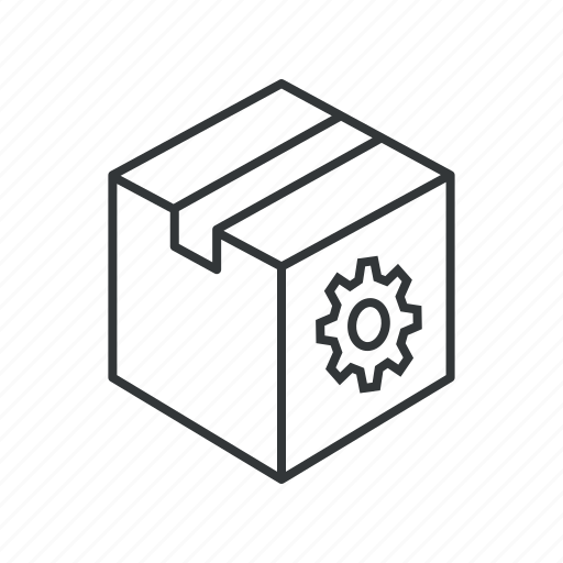 box, gear, package, preferences, service, settings, tools icon