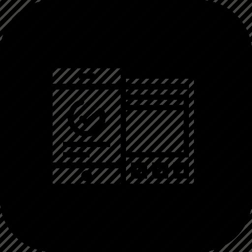 analysis, chart, data, mobile, statics, sync, window icon