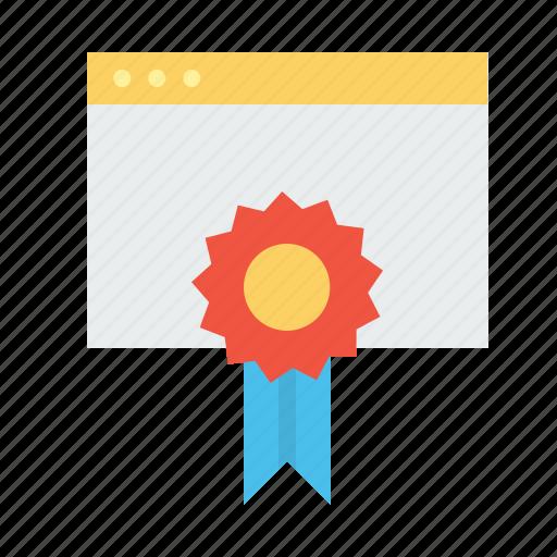 badge, favorite, prize, star, window, winning icon