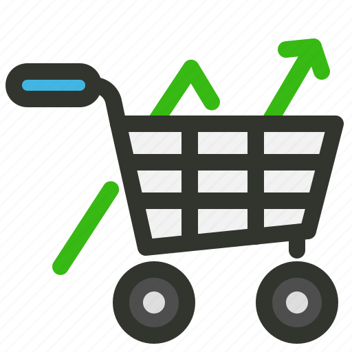 ecommerce, growth, sales, solution icon