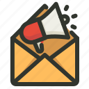 advertisment, email, marketing, promotion icon