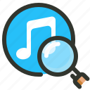 audio, music, search, sound icon