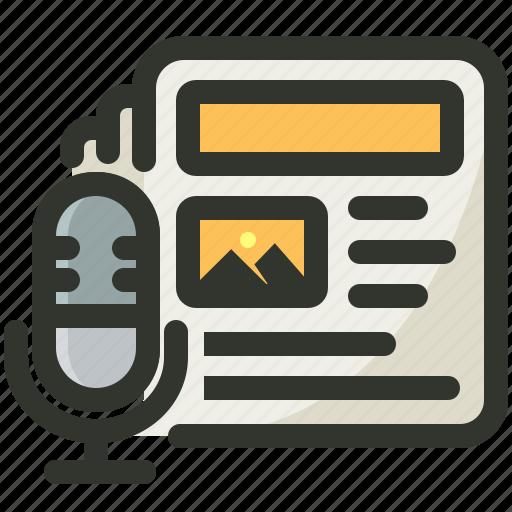 media, news, press, release icon