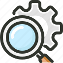 engine, optimization, search, seo, settings icon
