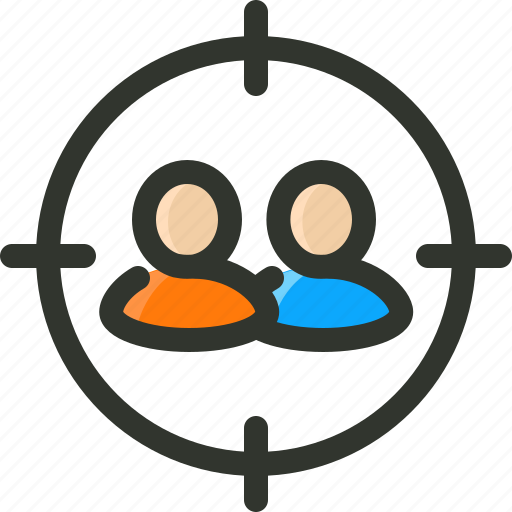 audience, people, target, users icon