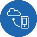 cloud, data, mobile, optimization, seo tool, sync, synchronization icon