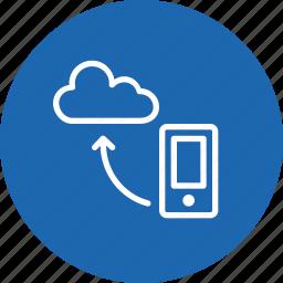 cloud, data, mobile, optimization, seo tool, sync, synchronization icon