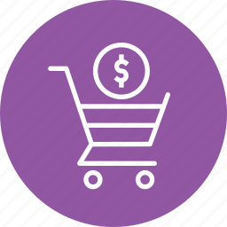 cart, currency, dollar, online, payment, shopping, trolly icon