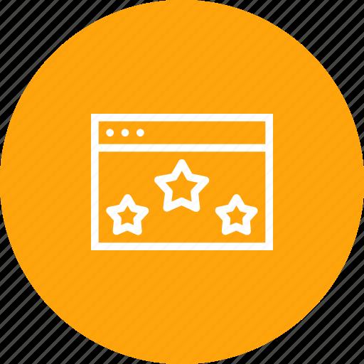 app, application, browser, favorite, like, star, window icon