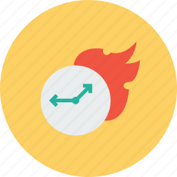 boostup, fast, faster, fire, speedup, timer, watch icon