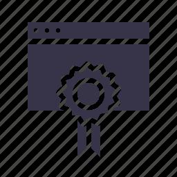 badge, favorite, medal, prize, star, window, winning icon