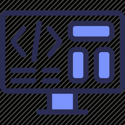 coding, computer, design, development, seo, web icon