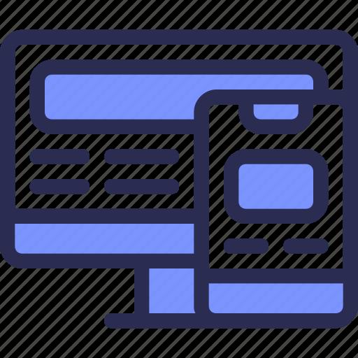 Web, computer, mobile, responsive, optimization, design, seo icon