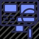computer, design, development, search, seo, web, zoom icon