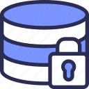 data, database, hosting, lock, secure, seo, server icon
