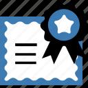 certificate, seo icon