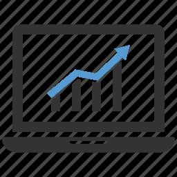 business, chart, computer, data, finance, graph, statistics icon icon