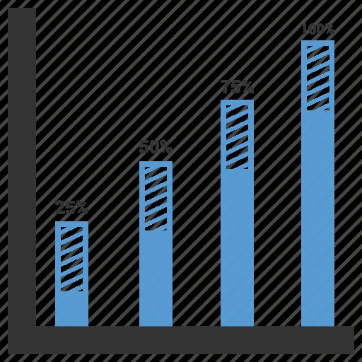 analytics, arrow, chart, direction, graph, statistics icon