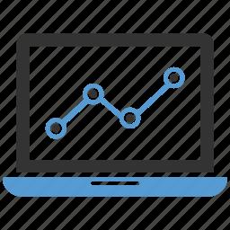 analytics, business, chart, computer, data, finance, graph icon