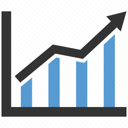 chart, statistics, up icon