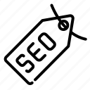 badge, category, description, label, seo, tag, web icon
