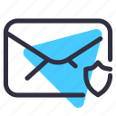 communication, e-mail, letter, mail, protect, safety icon