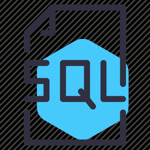 coding, development, sql, web icon