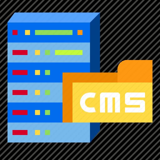cms, content, data, document, server icon