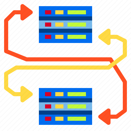 data, database, document, failover, server, storage icon