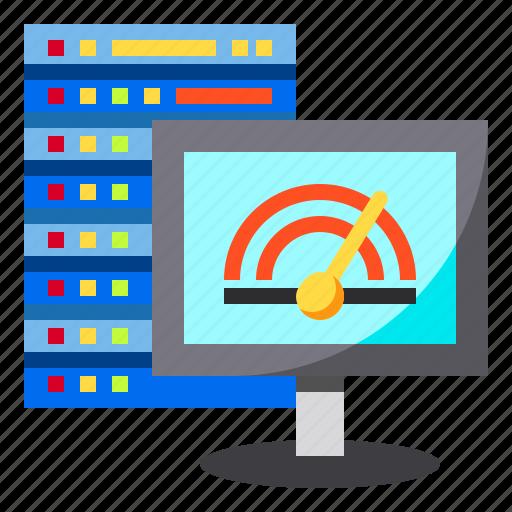database, performance, server, speed, speedometer icon