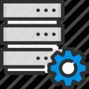 base, cogwheel, data, database, options, server, settings icon
