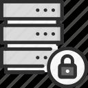 archive, base, data, database, padlock, password, server icon