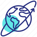 earth, orbit, satelite icon