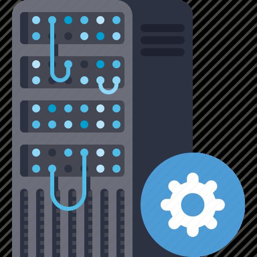database, options, preferences, server, settings, storage icon