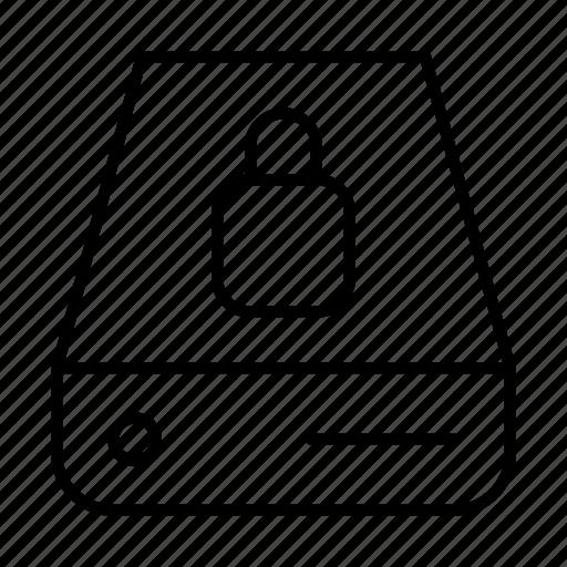 data, database, lock, network, server, storage icon