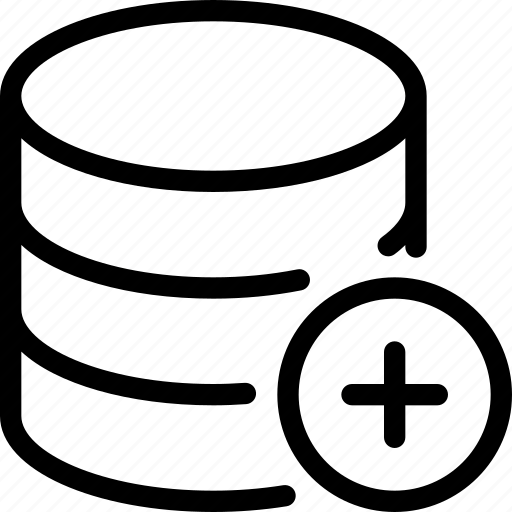 add, database, file, server, storage icon