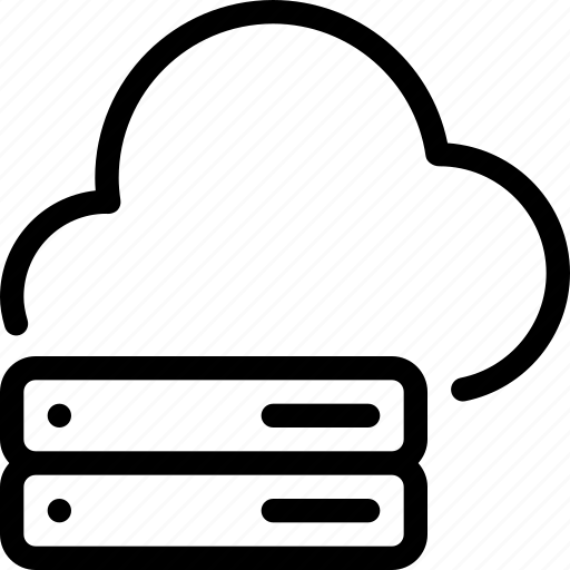cloud, data, network, server, storage icon