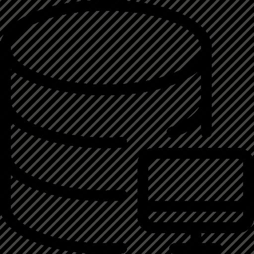 computer, database, pc, server, storage icon