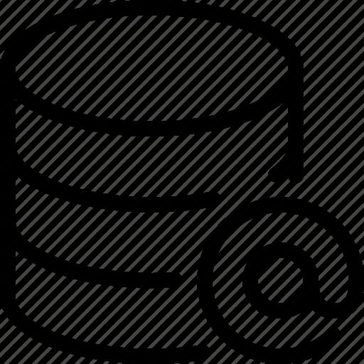 at, data, database, server, storage icon