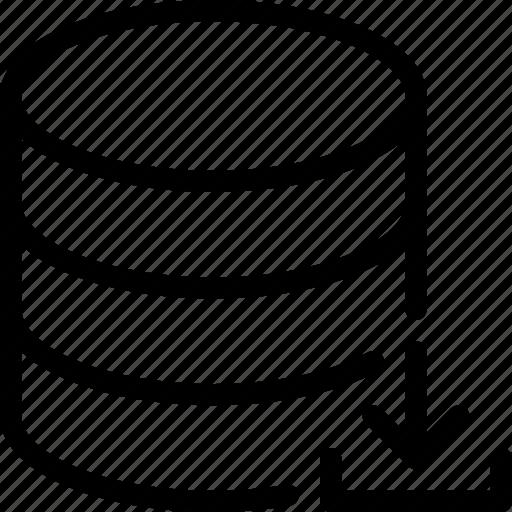 arrow, database, download, server, storage icon