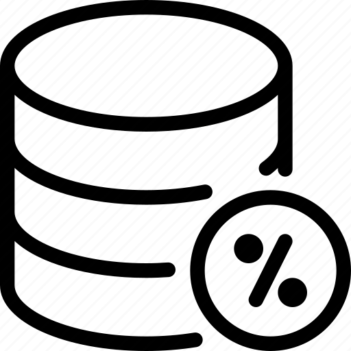 Database, percentage, data, server, storage icon - Download on Iconfinder