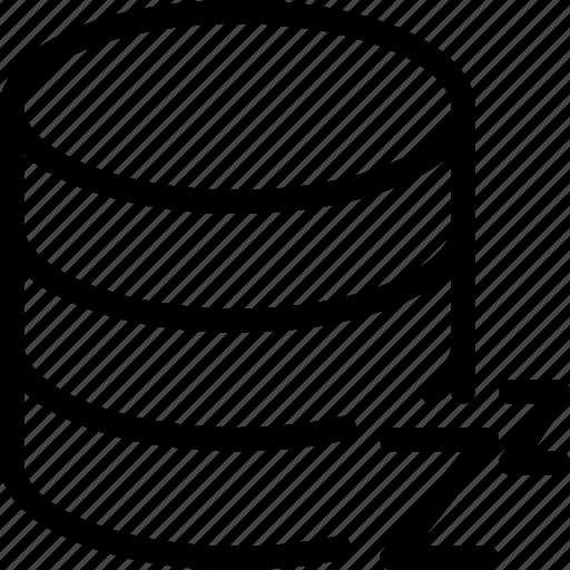 data, database, server, sleep, storage icon
