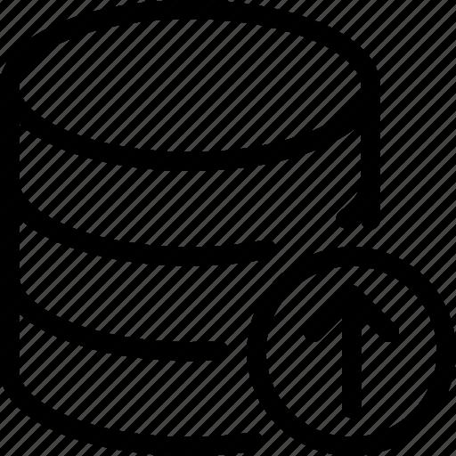 data, database, server, storage, up icon