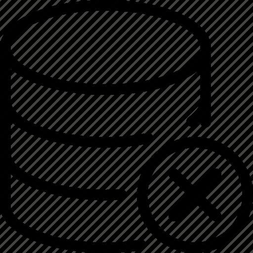 database, delete, remove, server, storage icon