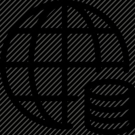 Databaase, global, globe, server, storage icon - Download on Iconfinder